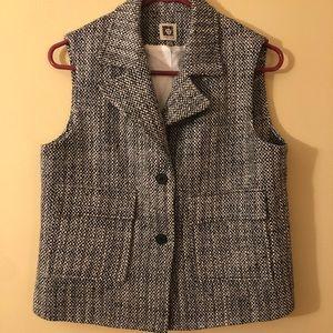 Anne Klein 2 Button Tweed Vest